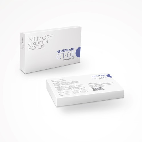 Simple, innovative box design for a nootropic supplement