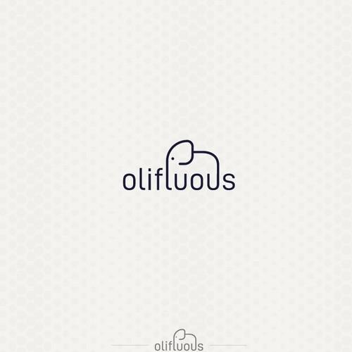 Bold and elegent  logo for olifluous
