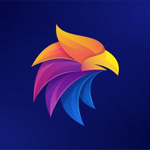 Eagle icon colorful