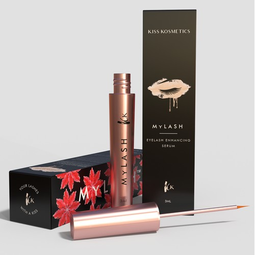 Girlish Packaging for an Eyelash Serum