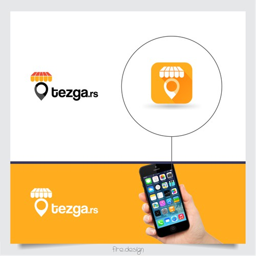 simple, modern logo for mobile application Tezga