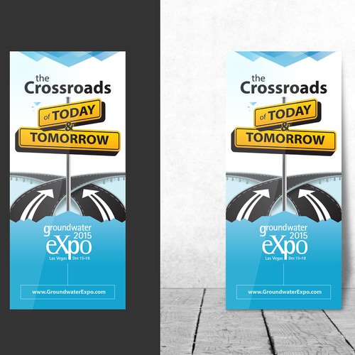 Create 35 x 78 banner sign to promote a tradeshow.