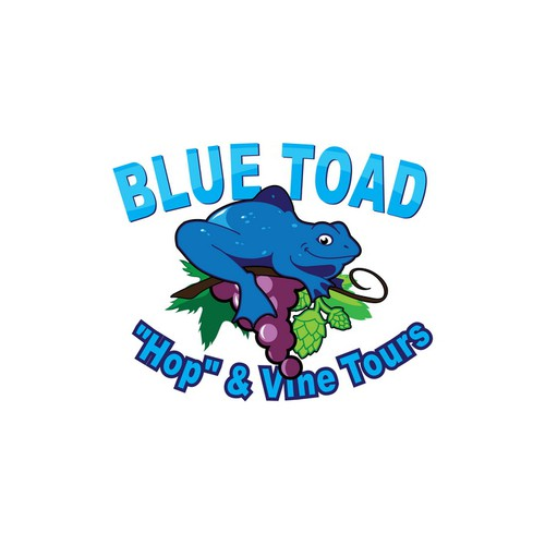 """Create the next logo for Blue Toad """"Hop"""" & Vine Tours"""