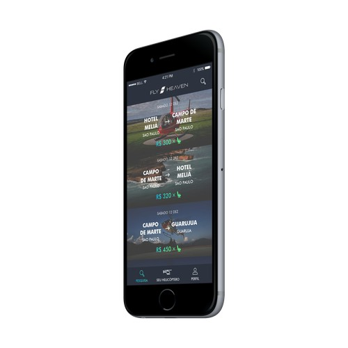 Charter flight booking app