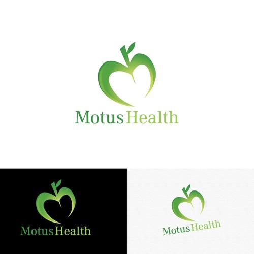 Apple Heart Letter M Logo