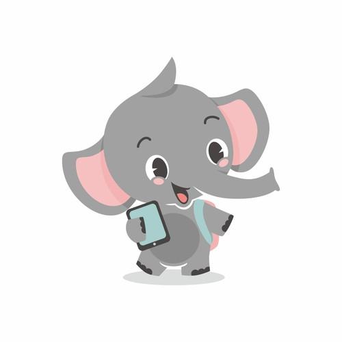 cute elephant mascot