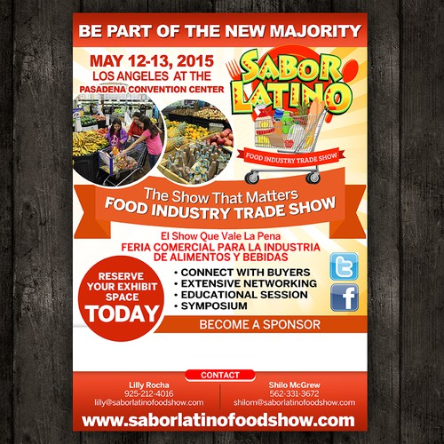 New Flyer for the Sabor Latino Food Show