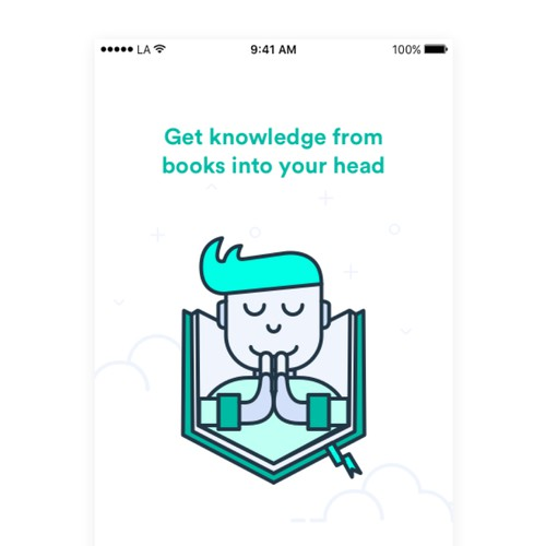 Ilustrated on boarding for Educate Myzelf