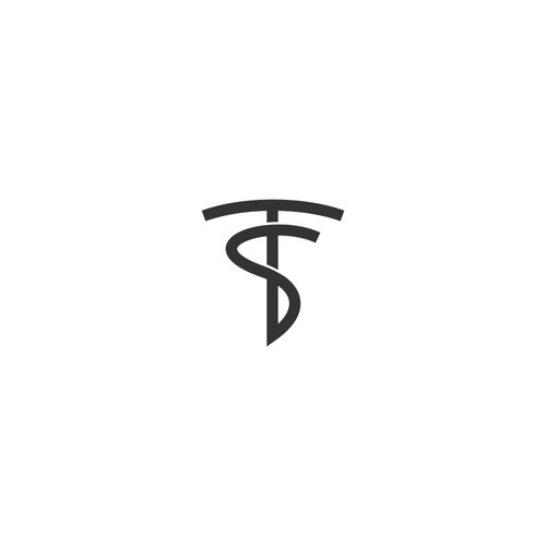 Letter T and S Logo for Cosmetics Brand