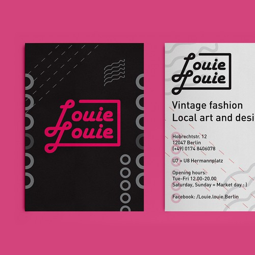 Louie Louie Logo and Marketing Material