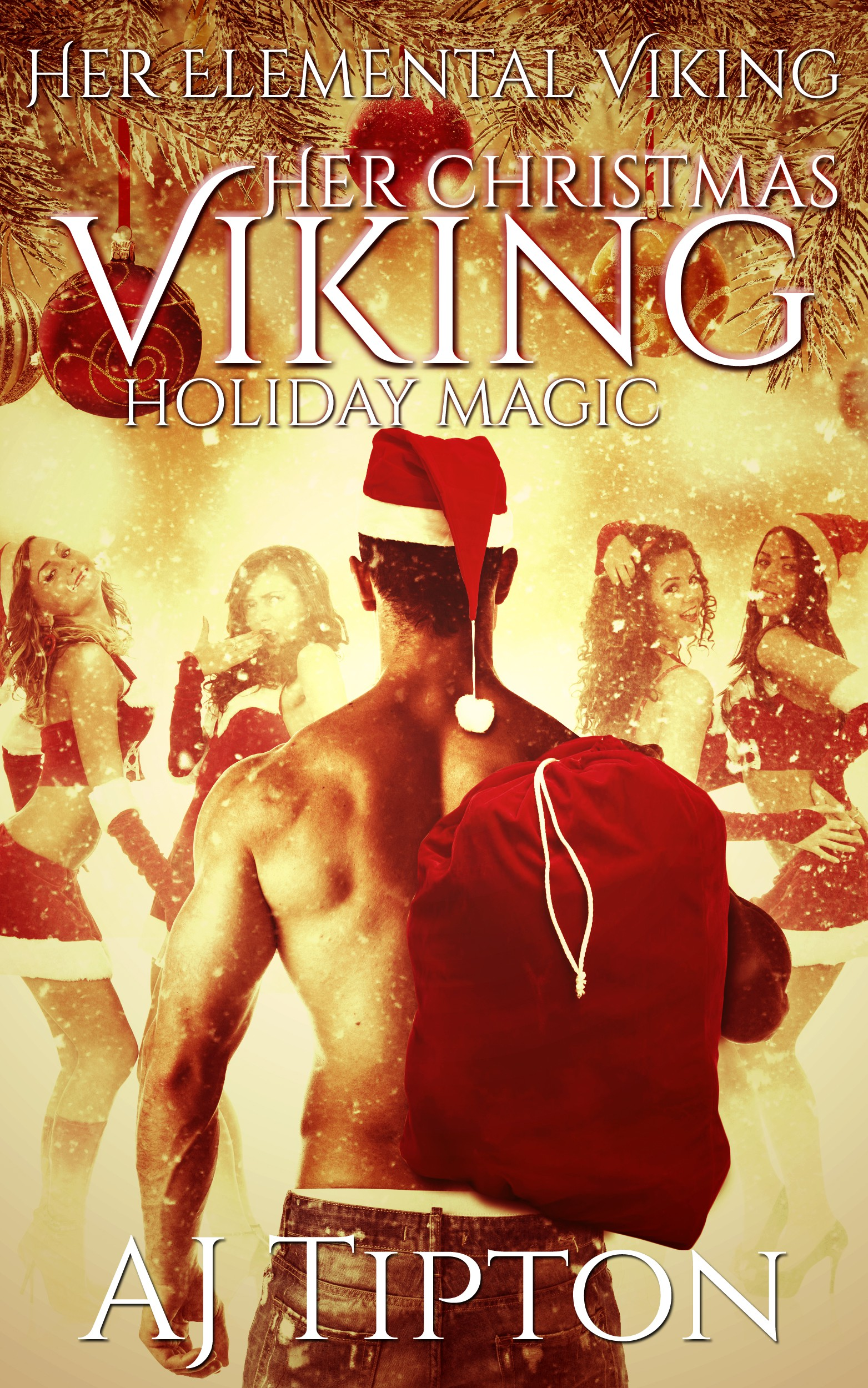 Her Christmas Viking: Holiday Magic - newest ebook cover for the Her Elemental Viking series