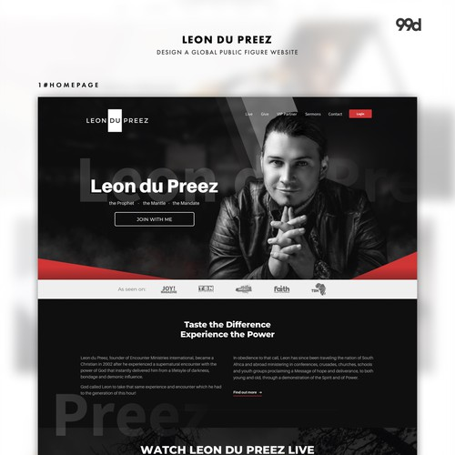 Leon du Preez - Design a Global Public Figure Website