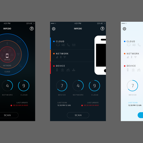 Mobile Antivirus Dashboard variation