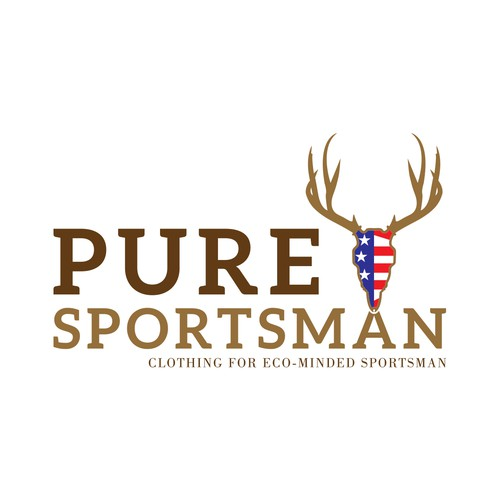 creat an american flag logo for Puresportsman.