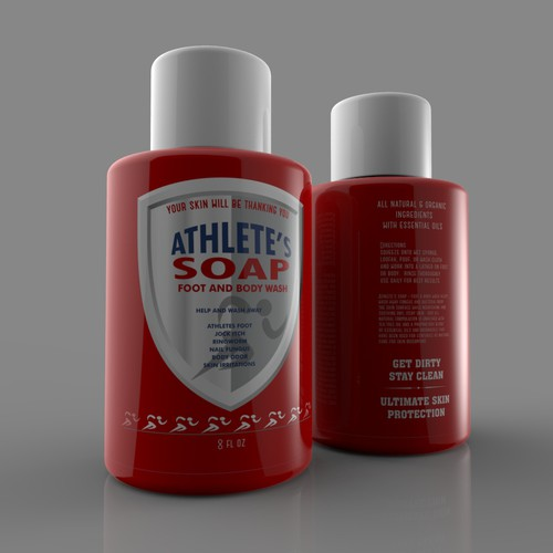 label for Athletic's soap