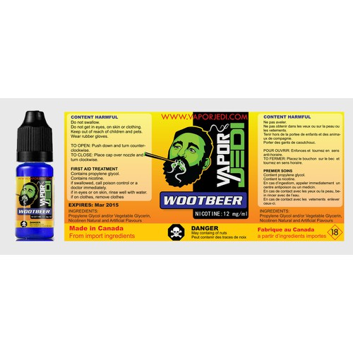 Create 2 sizes E-Liquid Label With Attractive Design & Required Info