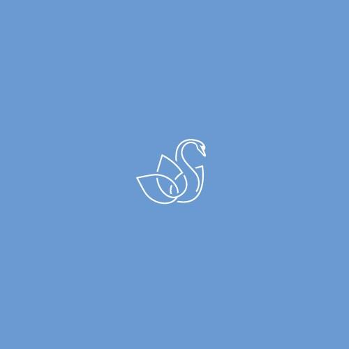 Modern lineart  swan logo