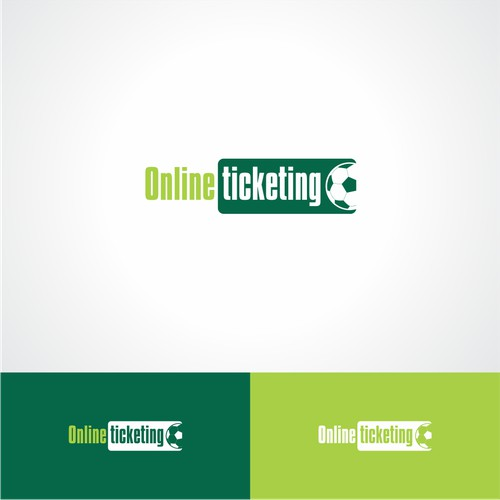 simple, flat, silhouette logo design for an online ticketing