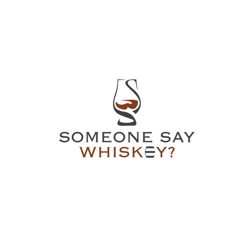 Clean and modern logo for trendsetting whiskey community, simple enough for wax stamps and laser etching