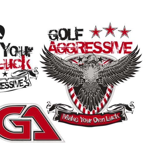 Golf Aggressive Needs a NEW Stylish and BOLD T-Shirt Design