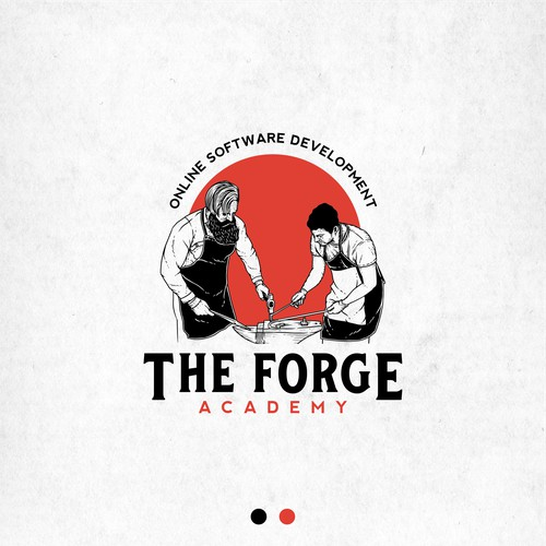 Logo concept for The Forge Academy