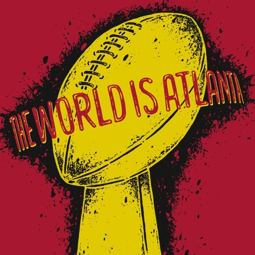 T-shirt design involving Super Bowl and Atlanta