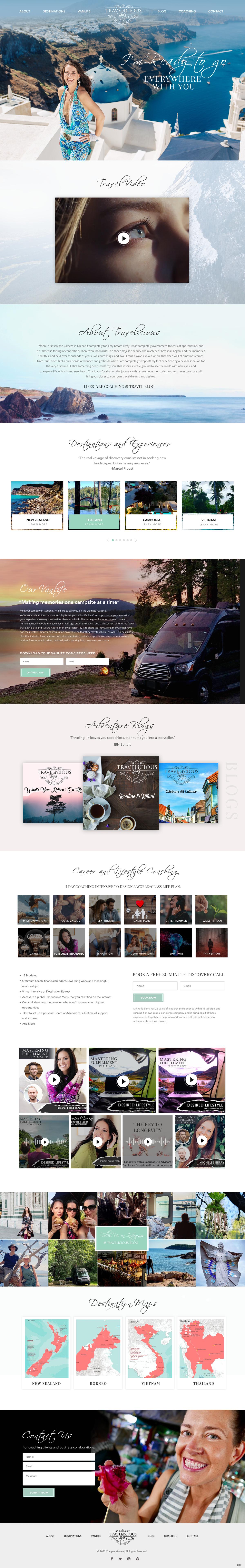 Travelicious Blog Website Design