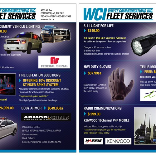 Help WCI WHYTE COMMUNICATIONS INC with a new brochure design