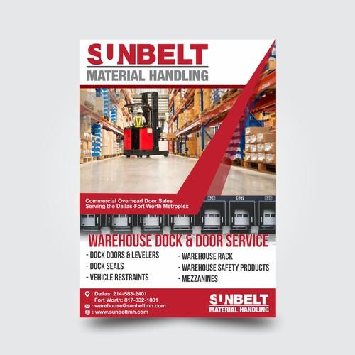 forklift and material handling dealership flyer