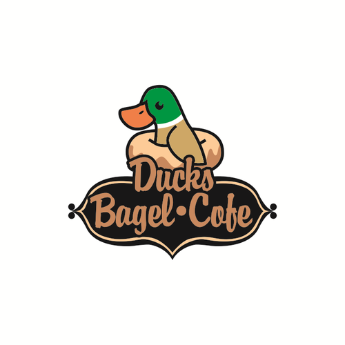 Concept logo for Ducks Bagel Cofe