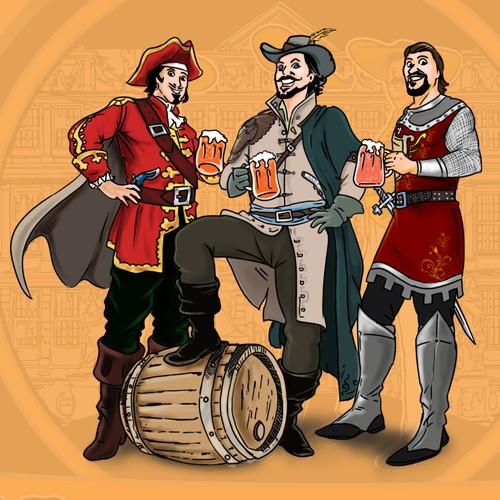 Label Illustration for a Brewing Company