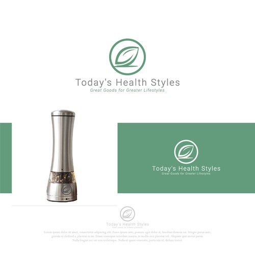 Green leaf health style logo concept design.