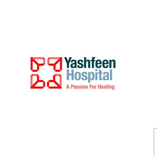 Logo cover for a new build hospital