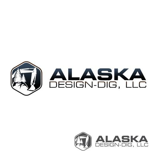 "Logo for ""ALASKA DESIGN-DIG, LLC"""