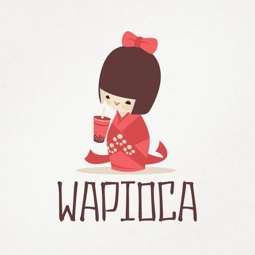 Wapioca San Francisco Bubble Tea Logo Design
