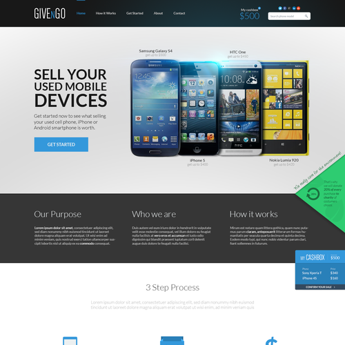 New website design wanted for CASH4MOBILEDEVICES