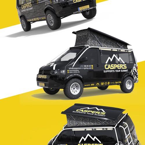 Car wrap - climbing shop