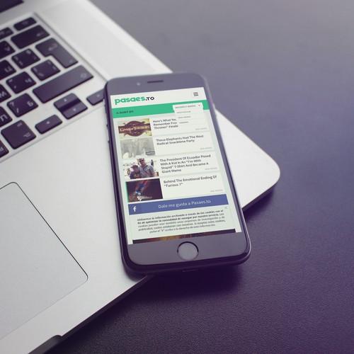 Mobile version of viral content website