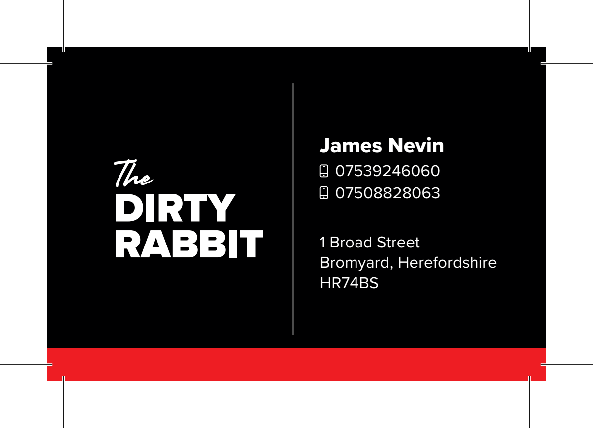 The Dirty Rabbit - Business Card Design