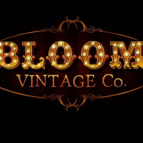 logo for Bloom Vintage Co. -hobo chic, hippie, classic, shabby, fancy, eclectic, & girly goods! FUN ARTISTS WANTED
