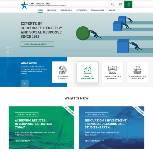 Web page design for Experts in Corporate Strategy & Social Response