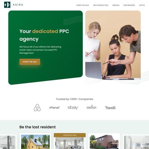 Landing page for real estate platform