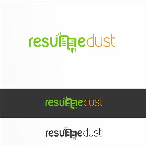 Logo for a internet site - resumedust.com - career services, resume, etc