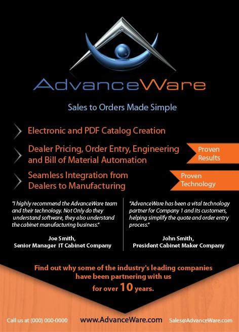 Help AdvanceWare Inc with a new magazine print ad