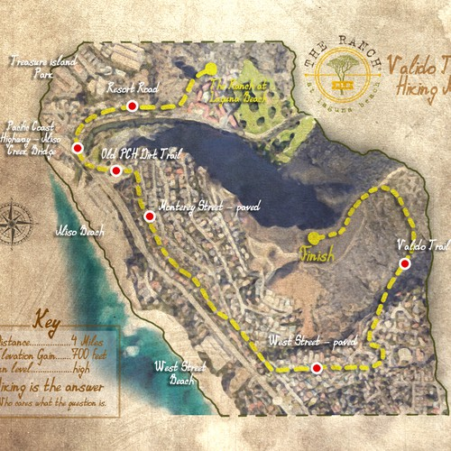 vintage map design