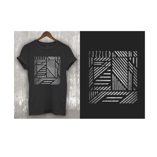 Create a confusing and creative tshirt design for a new clothing company.