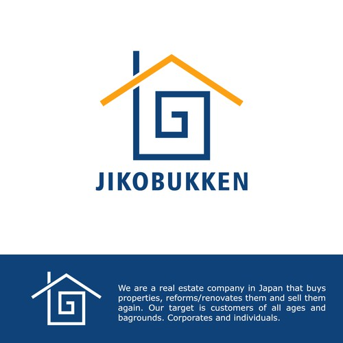 Simple iconic logo design for a Real Estate company