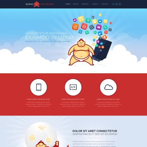 Logo and website design for softwaredevelopment company