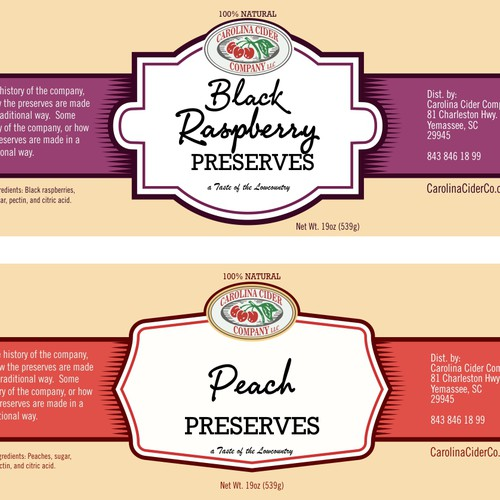 Label for preserves