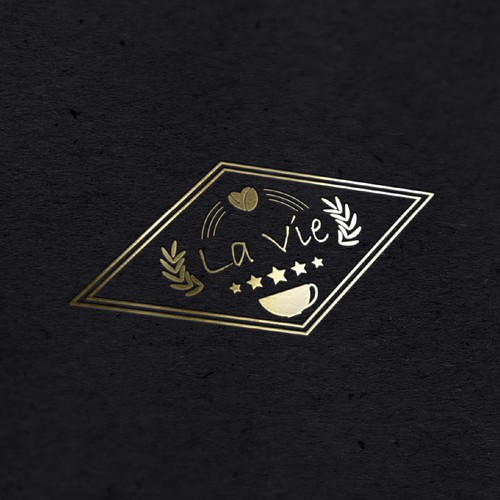 coffee cup logo for la Vie